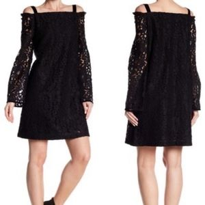 See By Chloe Cold Shoulder Black  Lace Dress 106